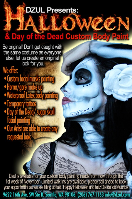 Dzul Halloween custo body paint