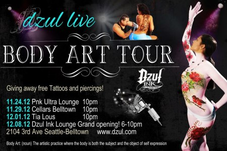 tattoo and airbrush seattle tour
